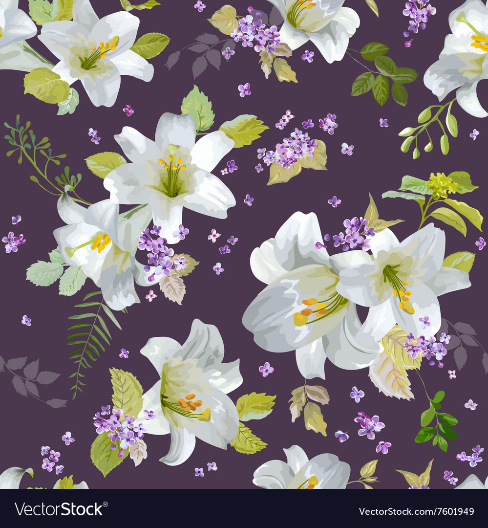 Spring lily flowers background royalty free vector image spring lily flowers background vector image izmirmasajfo