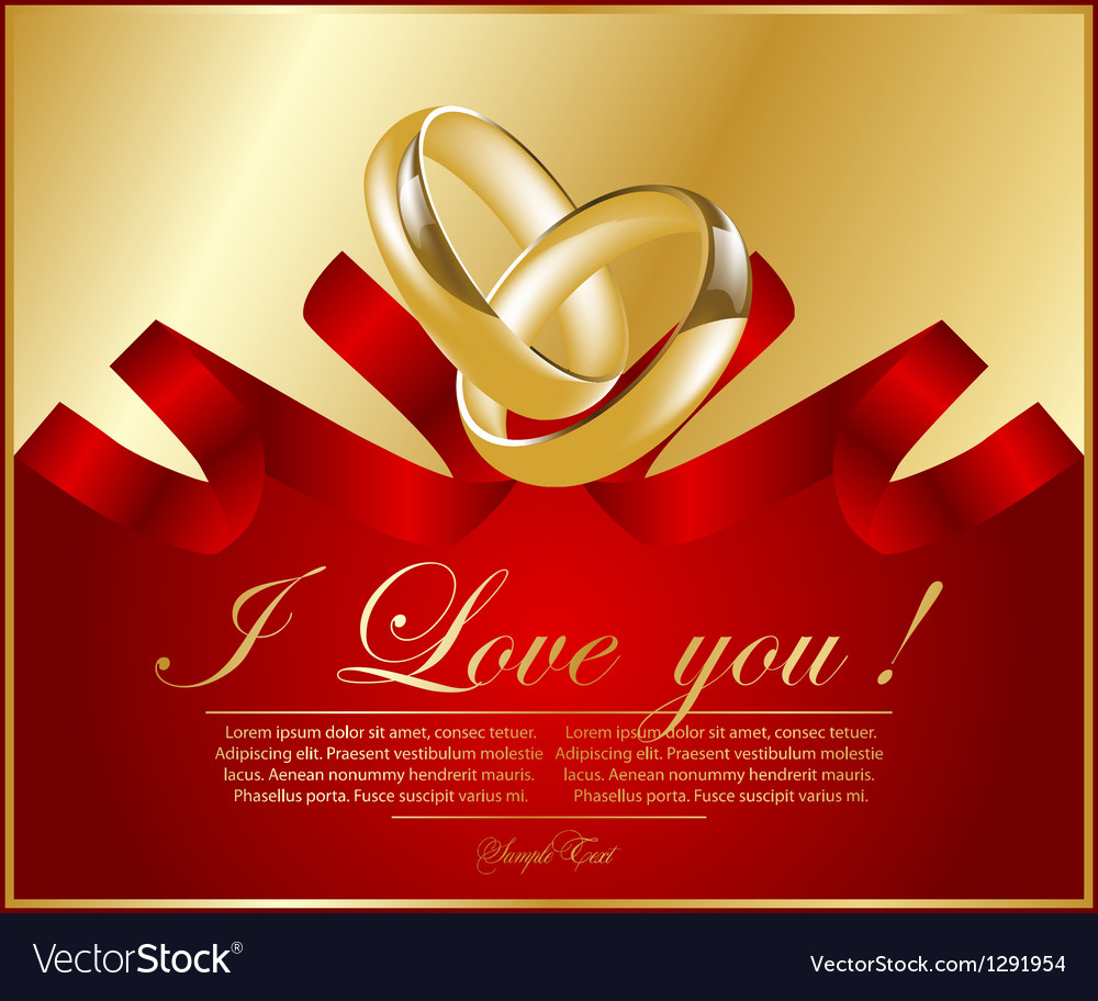 Abstract frame with wedding rings Royalty Free Vector Image