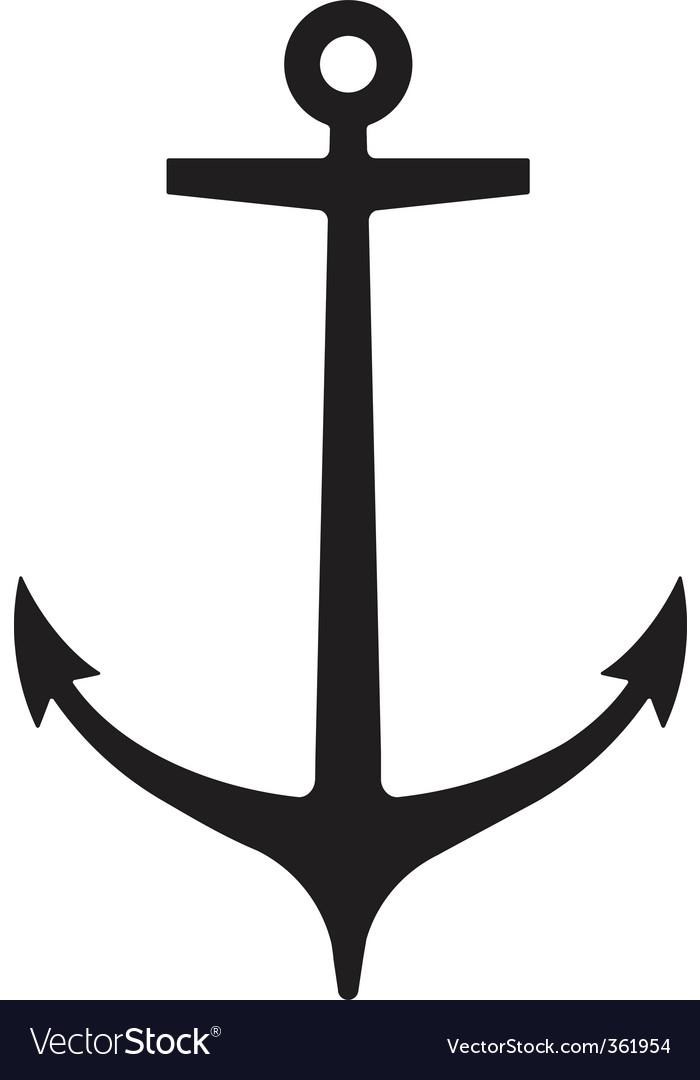anchor royalty free vector image vectorstock rh vectorstock com anchor vector graphic anchor vector file