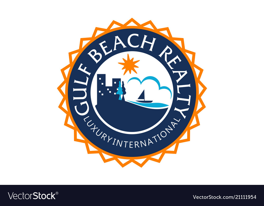 Beach realty logo design template