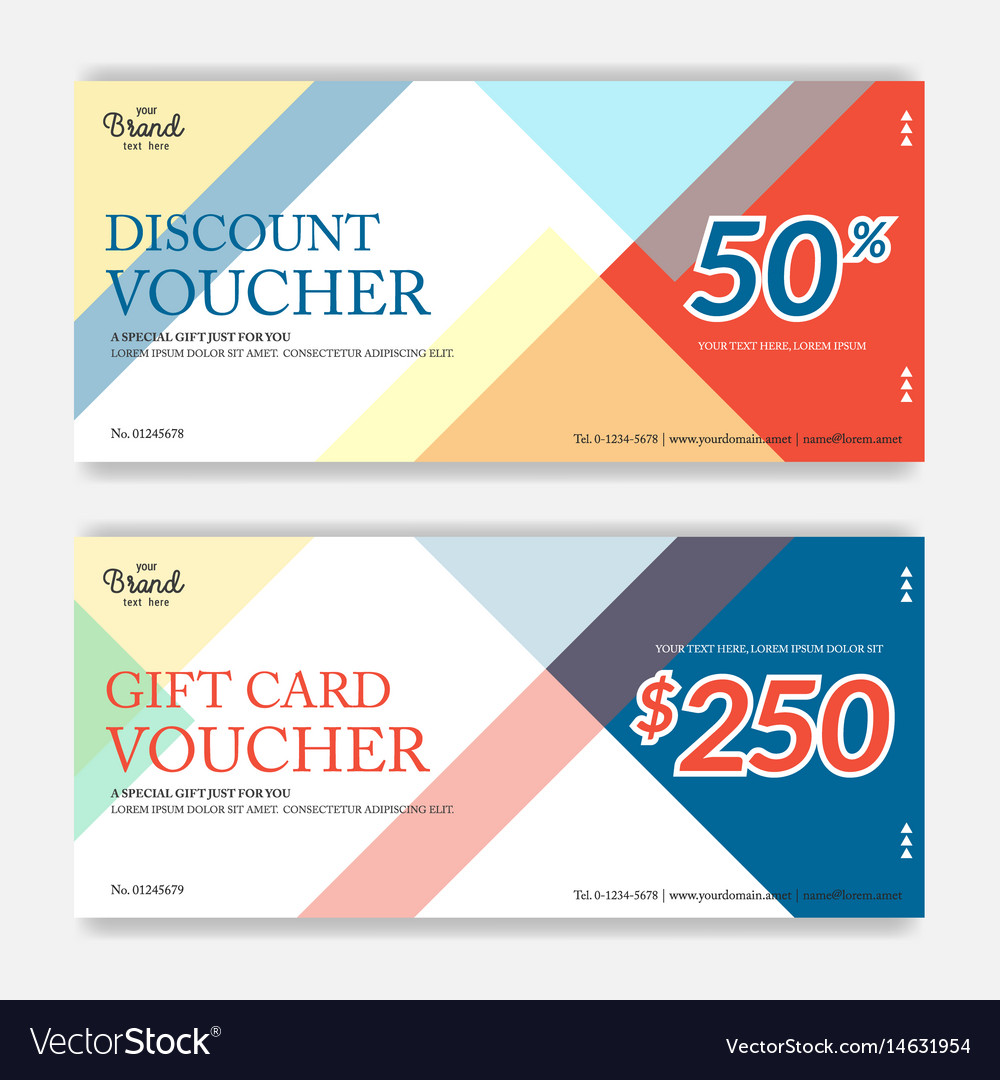 Colorful and modern discount voucher or gift
