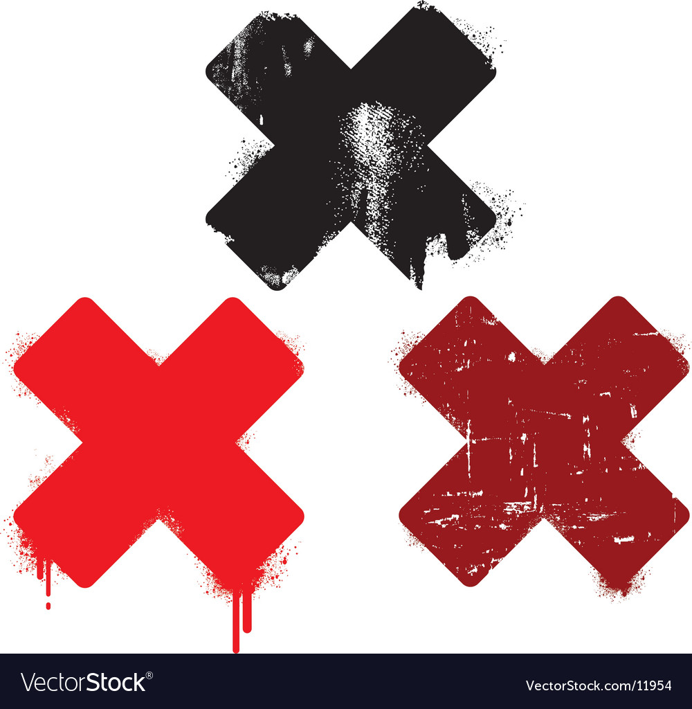 Grunge cross set vector image