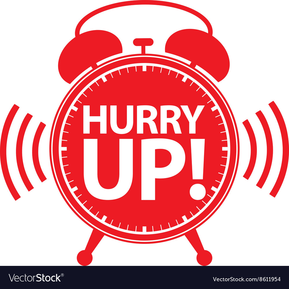 Hurry up alarm clock red icon Royalty Free Vector Image