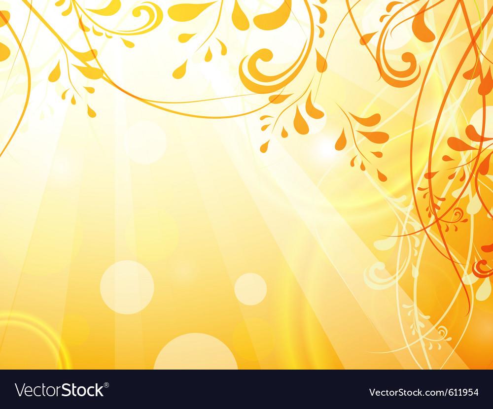 leaves orange bright background royalty free vector image