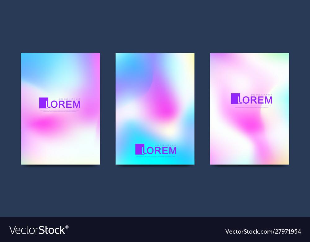 Modern set templates hologram gradient
