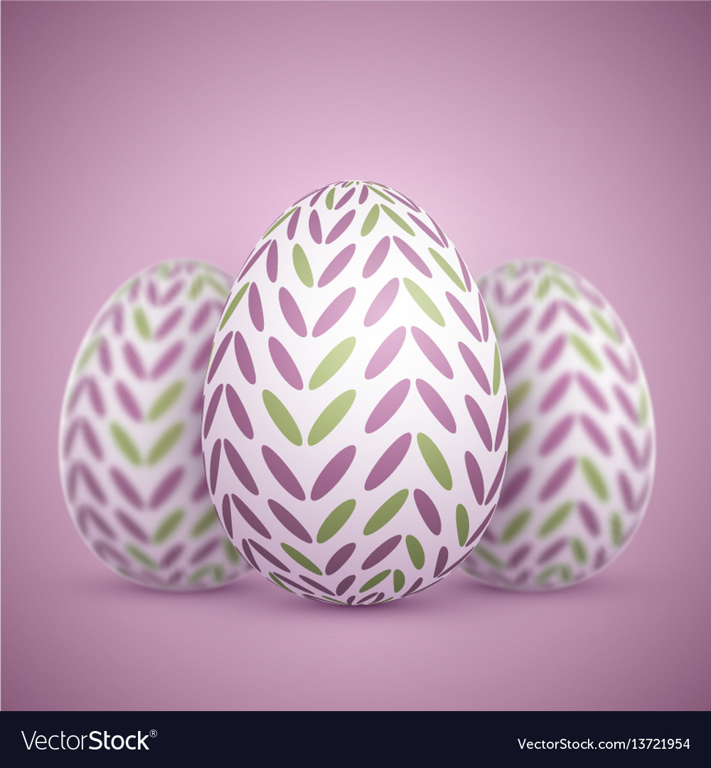 Photorealistic easter egg set
