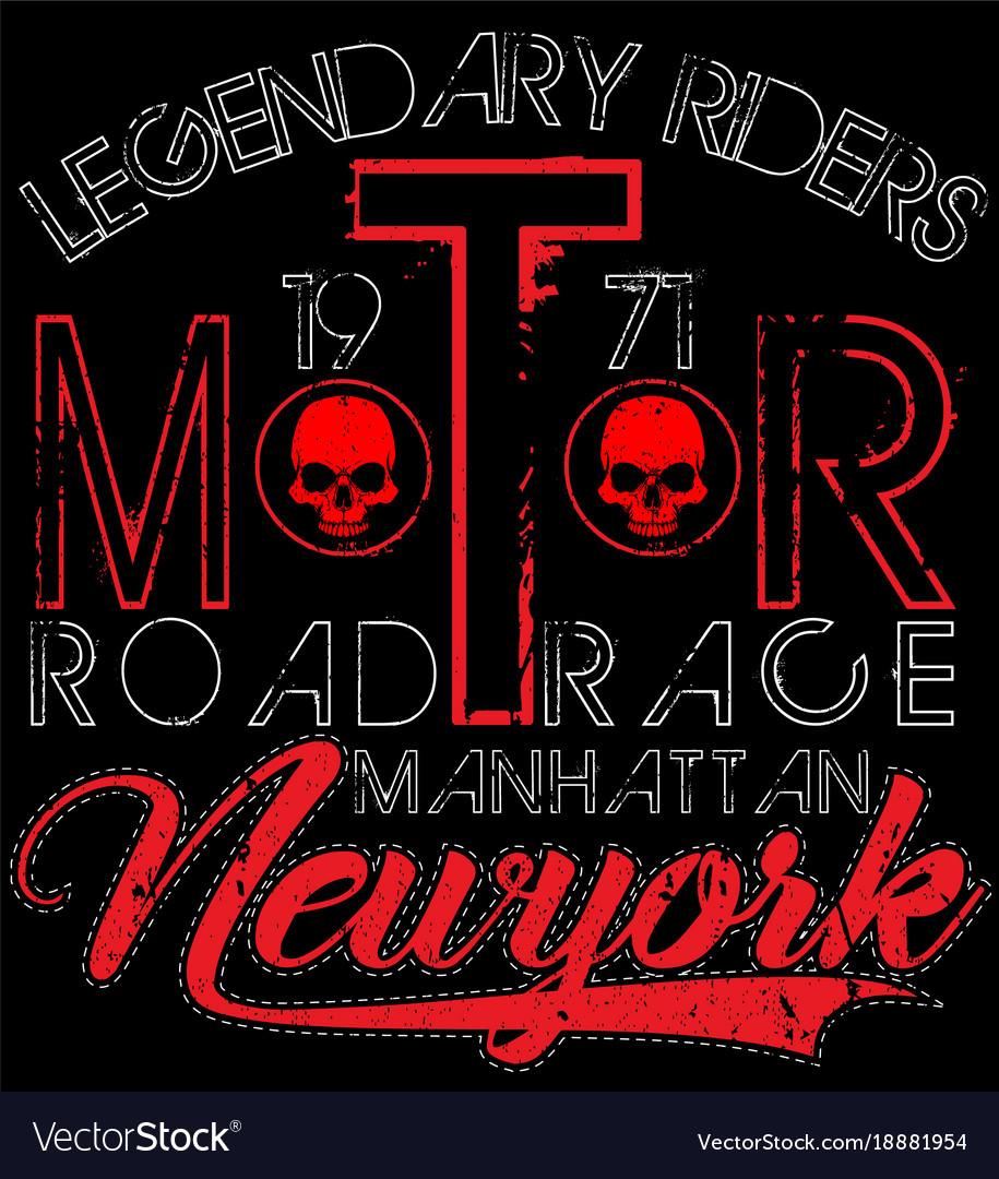 Vintage motorcycle labels badges and design