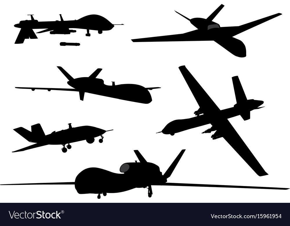 Weapon drones set vector image