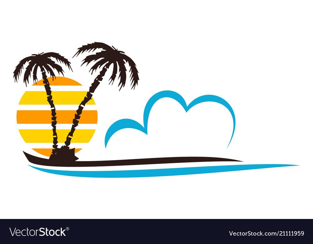 Beach logo design template