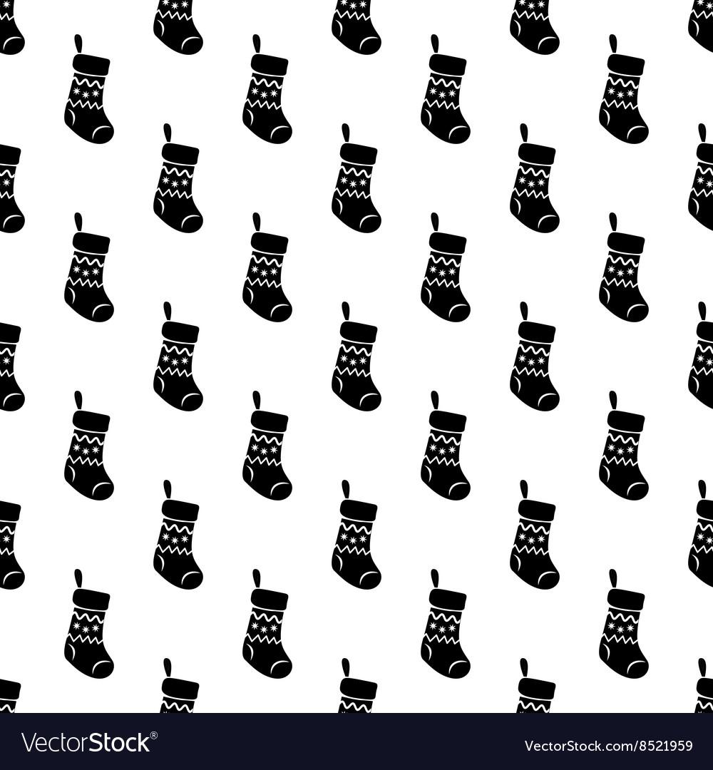 Christmas sock pattern seamless