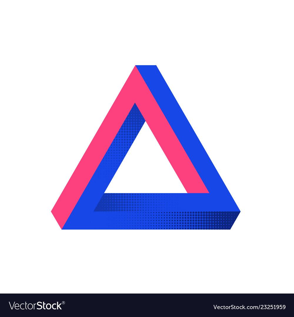 Impossible shape optical web design element line