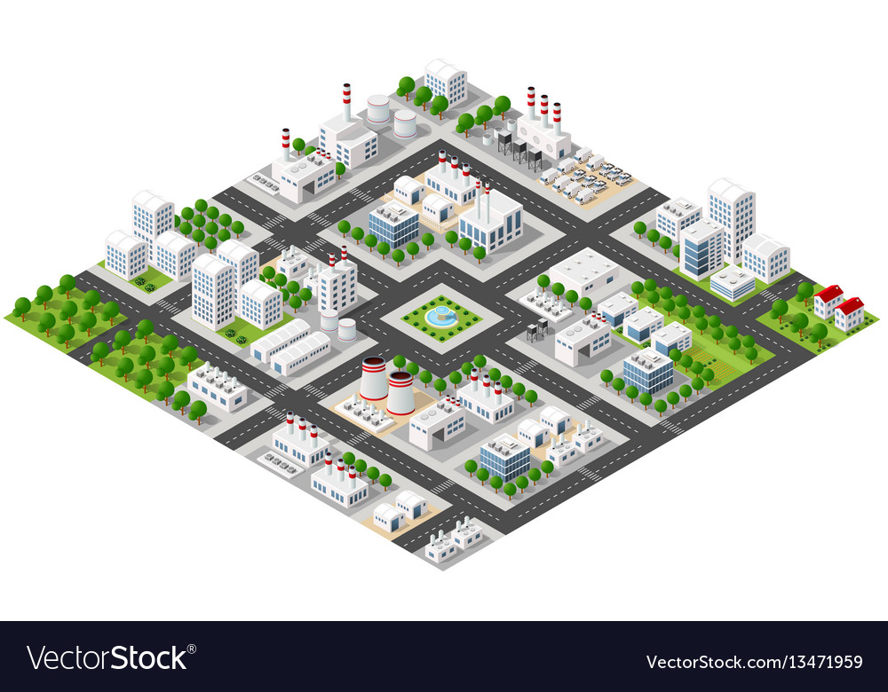 Isometric plant in 3d dimensiona