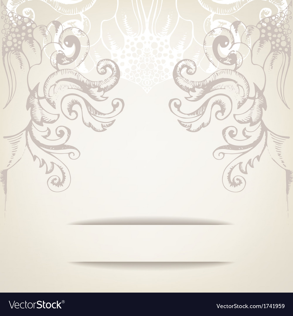 Vintage elegant background for invitations vector image stopboris Images
