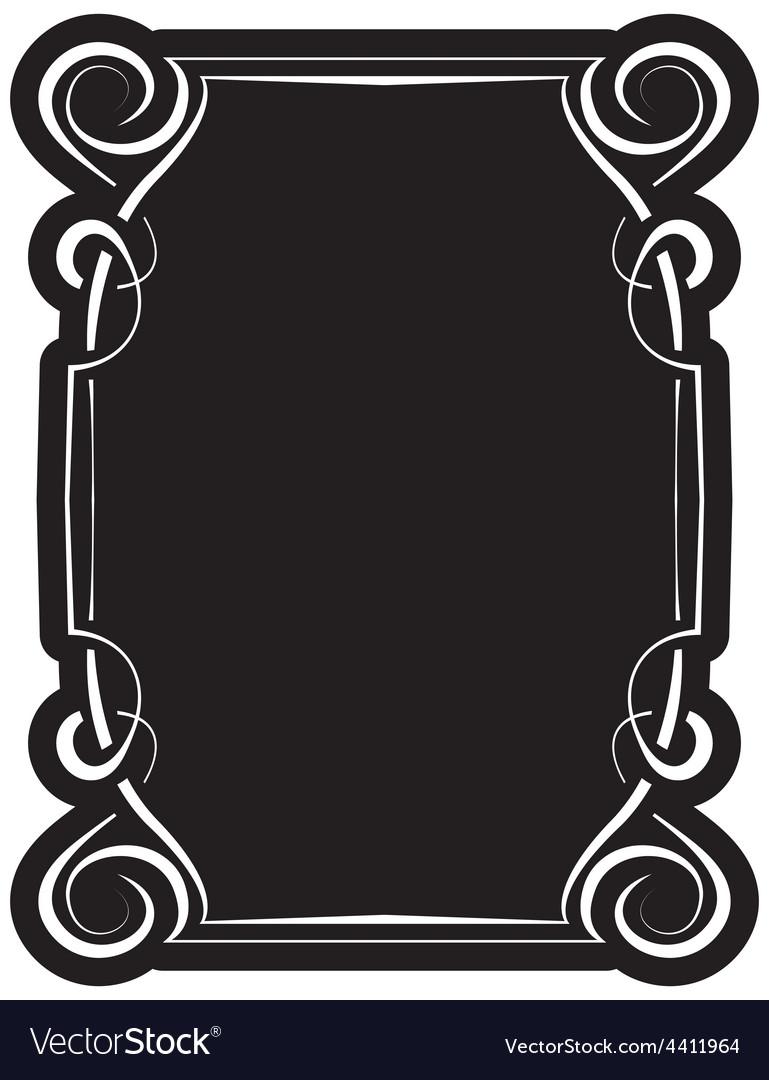 Black frame with elegant border vector image