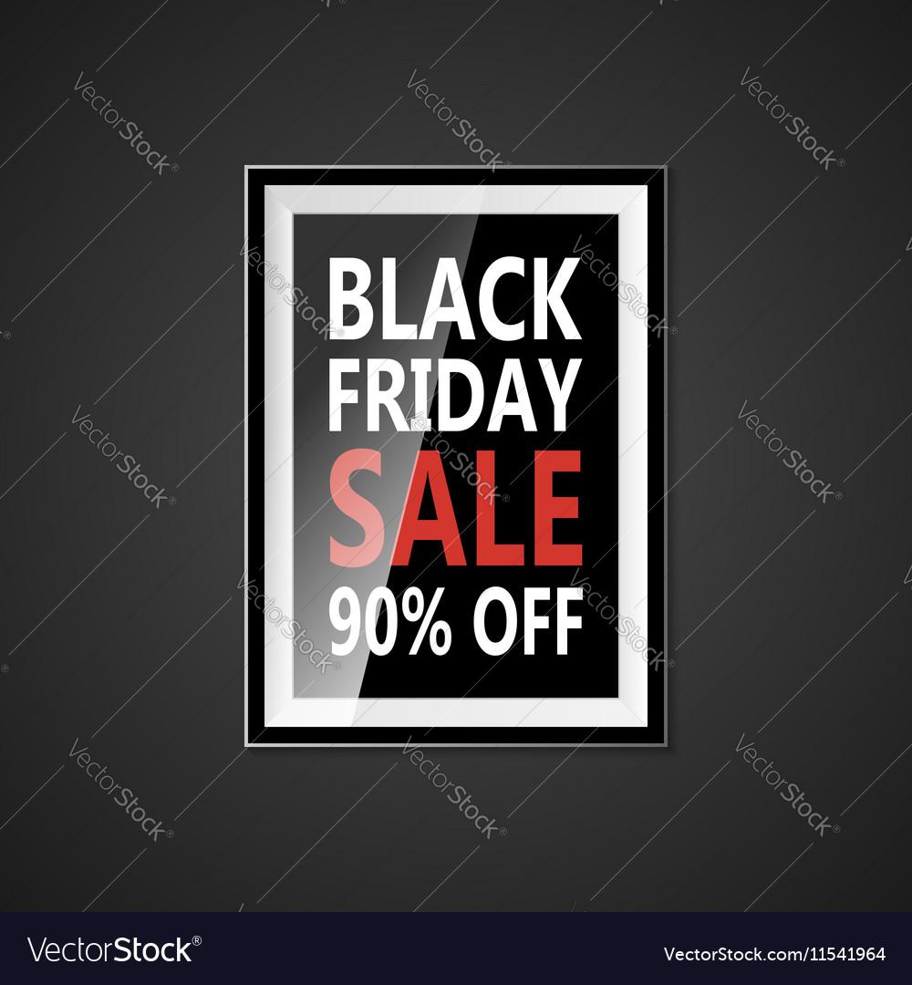 Black Friday sale inscription design template