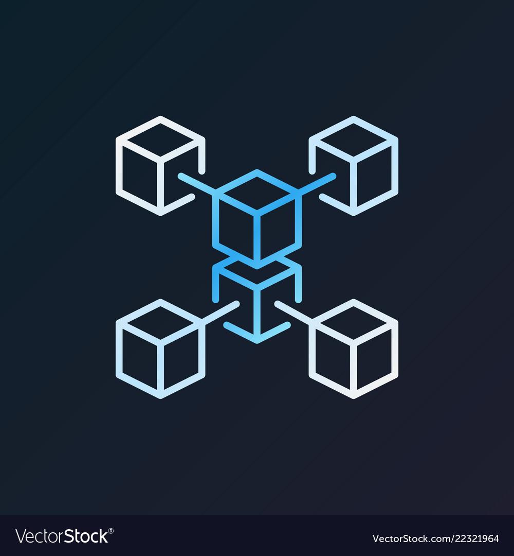 Blockchain crypto technology colorful line