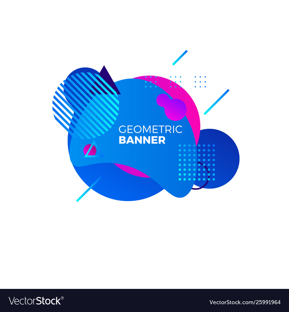 Creative geometric banner template colorful blue