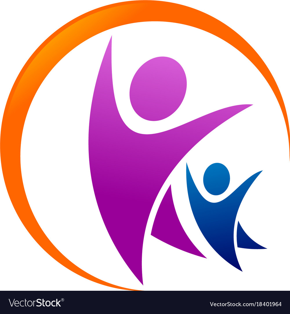 Family care logo swoosh