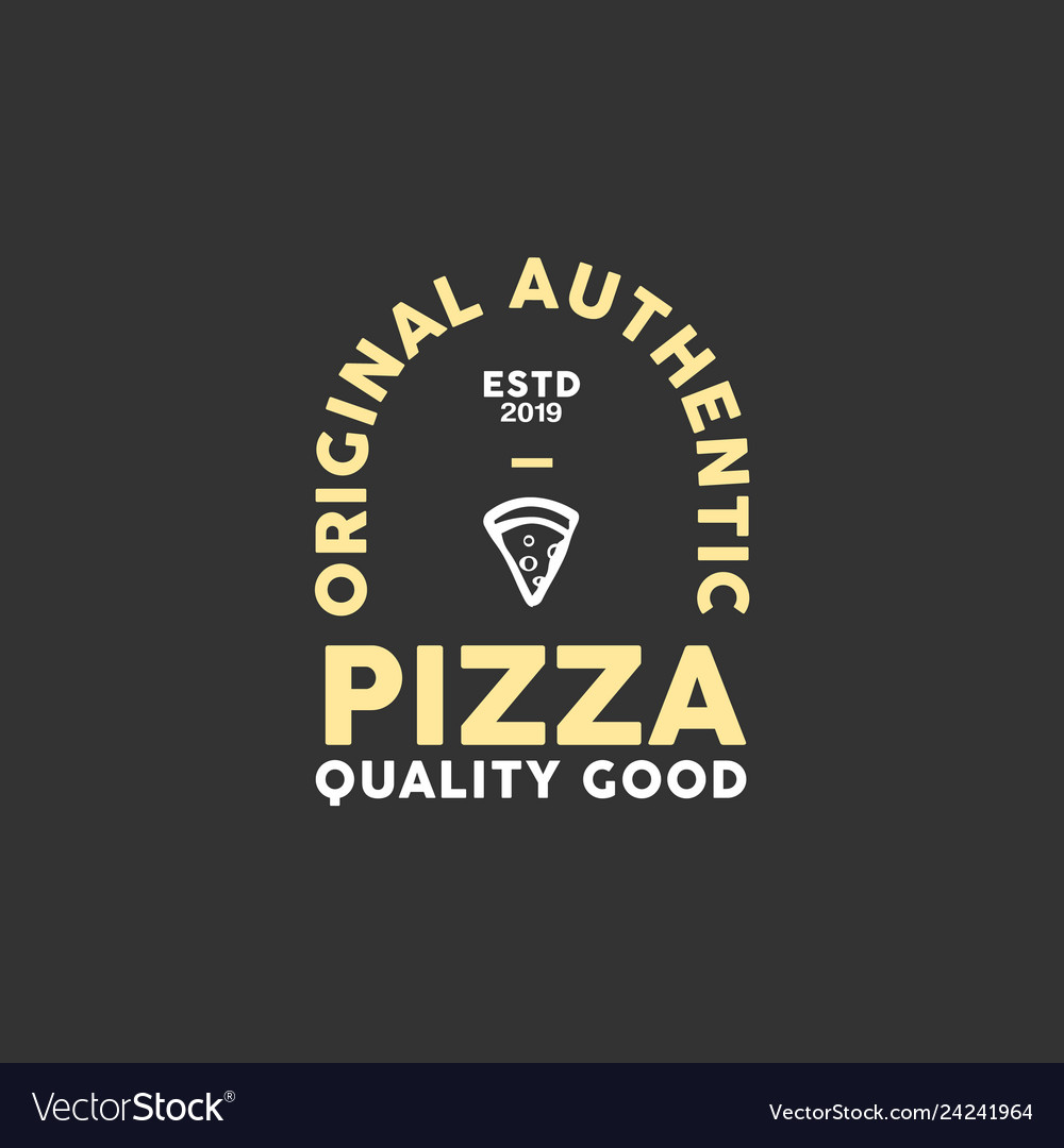 Pizza emblem logo design