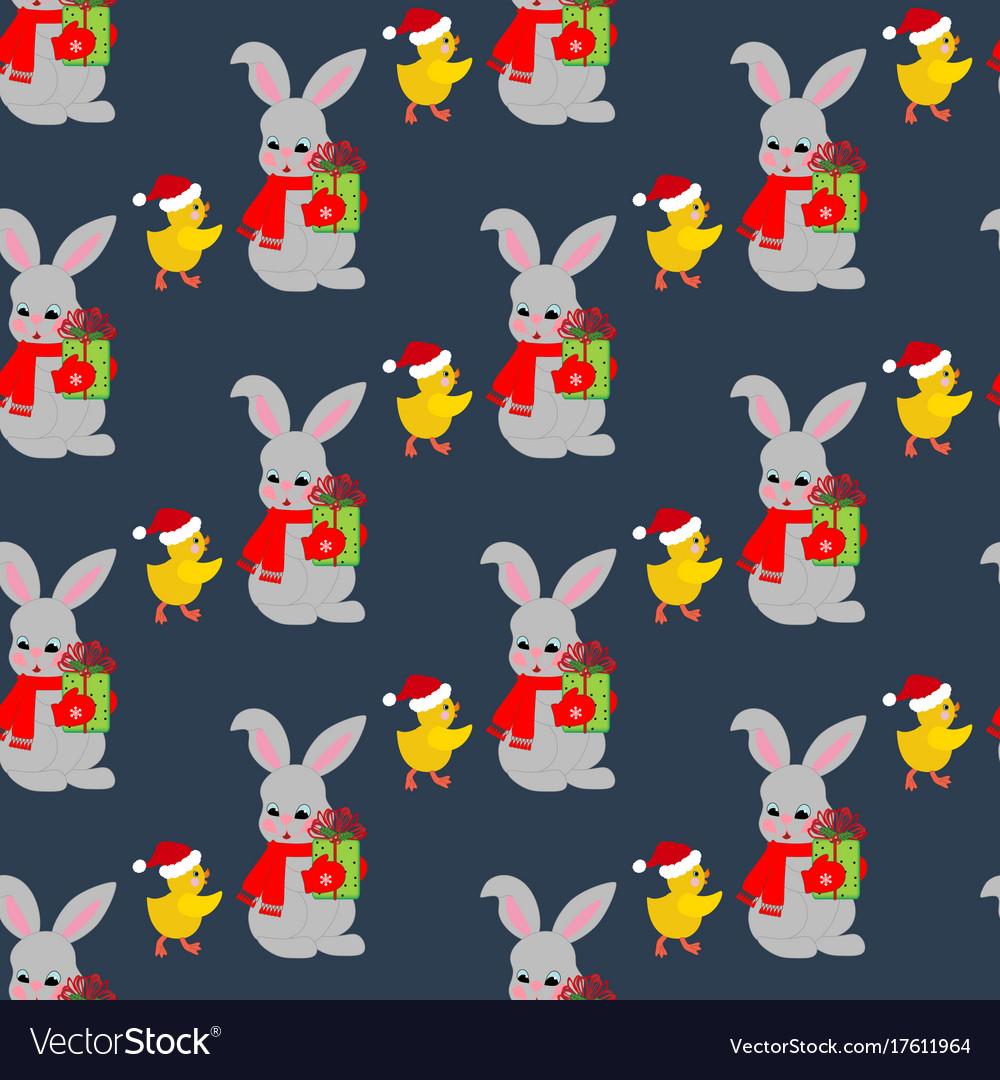 Rabbit and chicken pattern