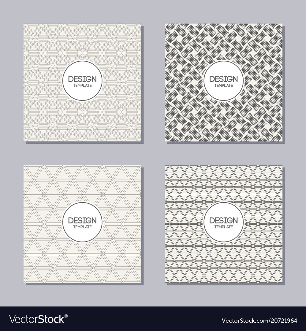 Set of 4 creative covers abstract geometric vector image