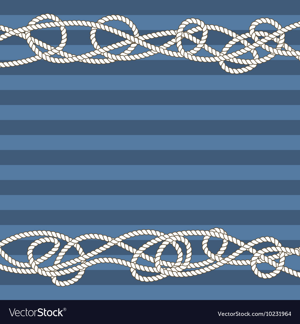Tangled marine ropes borders for text