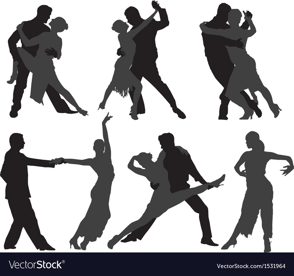 Tango Dancers Silhouette