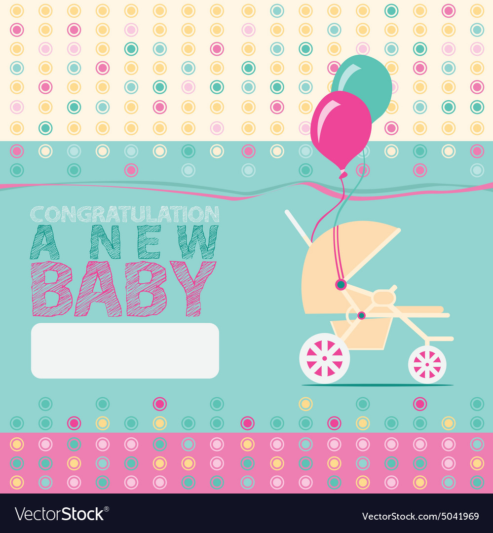 Baby new born greeting card royalty free vector image baby new born greeting card vector image m4hsunfo