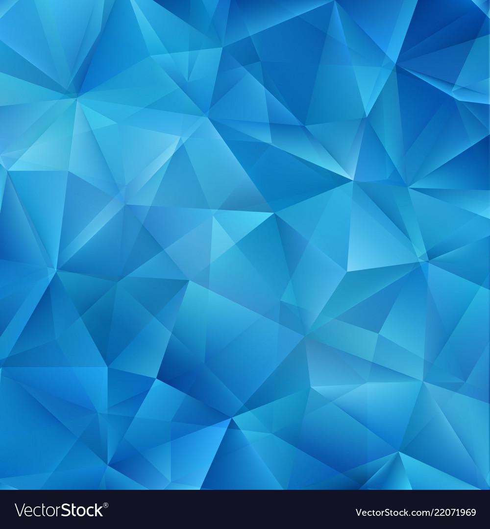 Blue polygonal mosaic background creative design