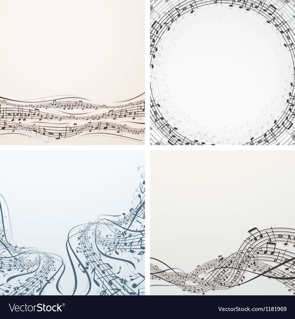 Collection of Musical Backgrounds Graphics vector image