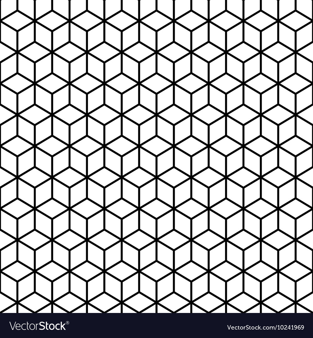 Cubes Black and white Seamless Pattern vector image