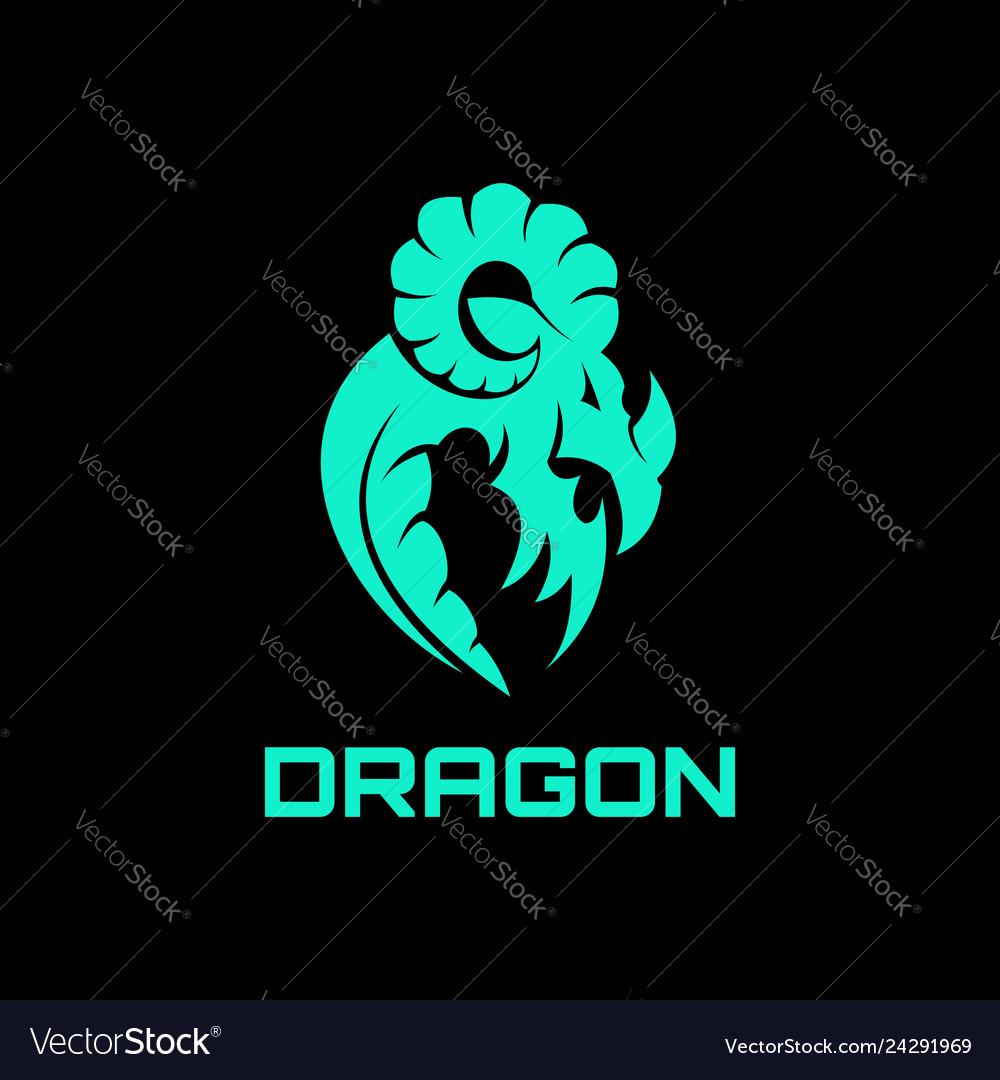 Dragon abstract logo