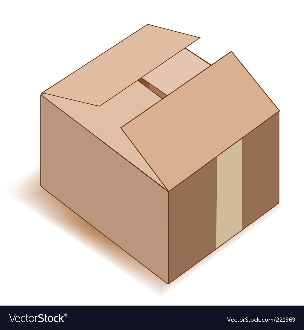 Empty paper box over white