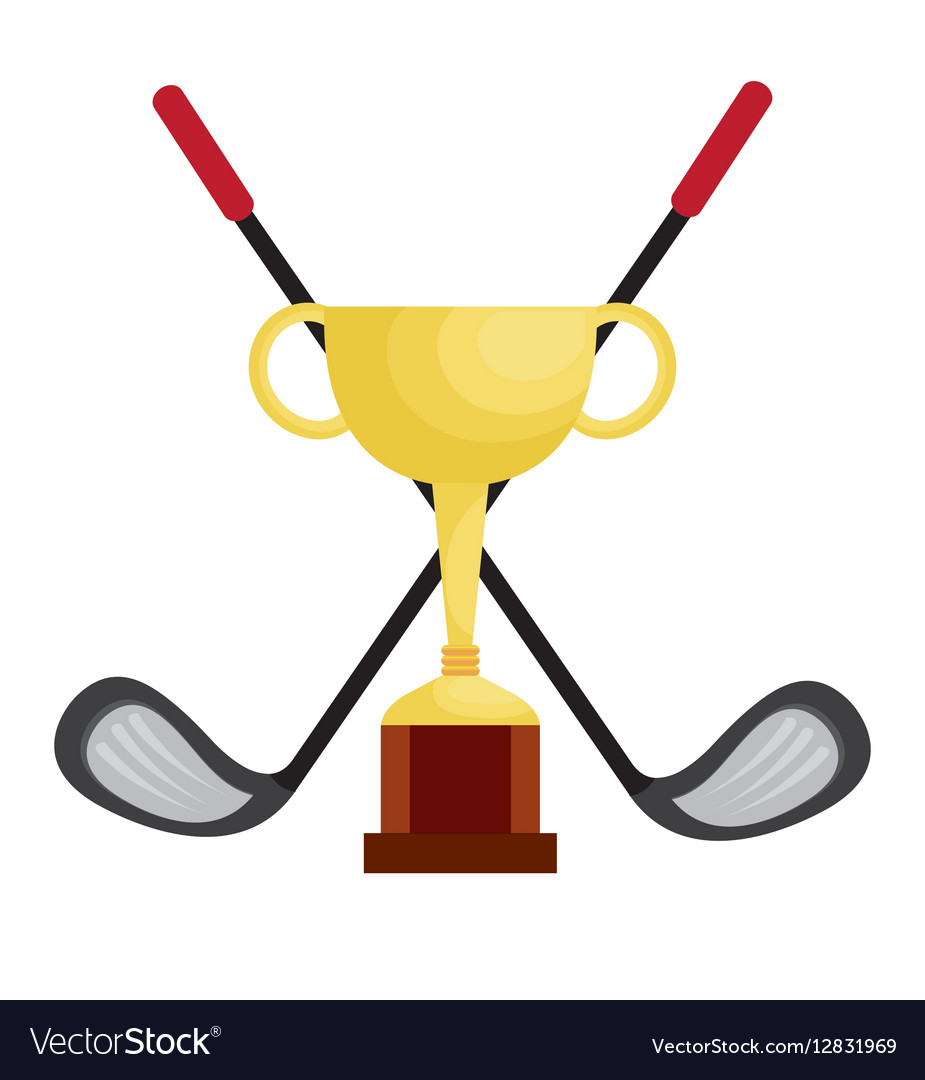 Golf Club Championship Trophy Royalty Free Vector Image