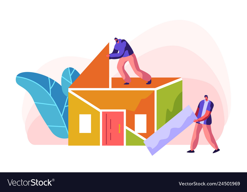 Human builder construction color home