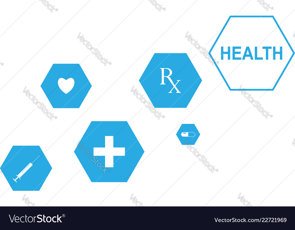 Medical background with icons to treat patients