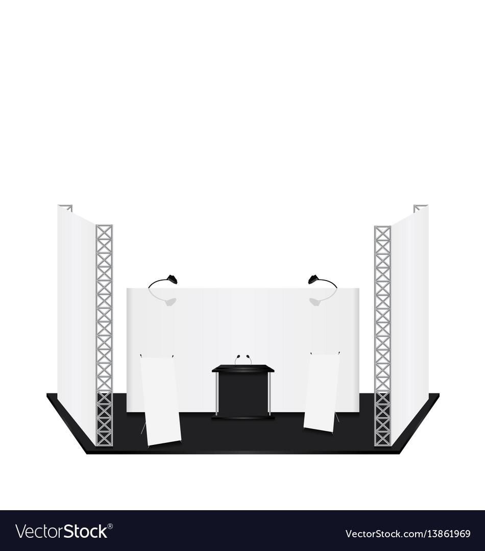 Exhibition Stand Design Brief Pdf : Podium trade conference exhibition stand vector image