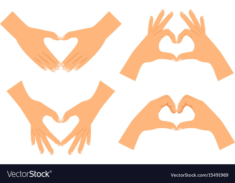 Two hands making heart shape
