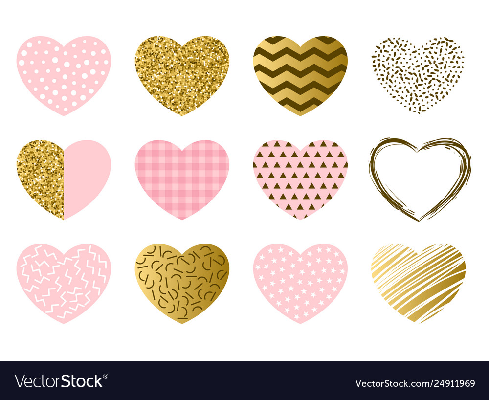 Valentine day collection hearts