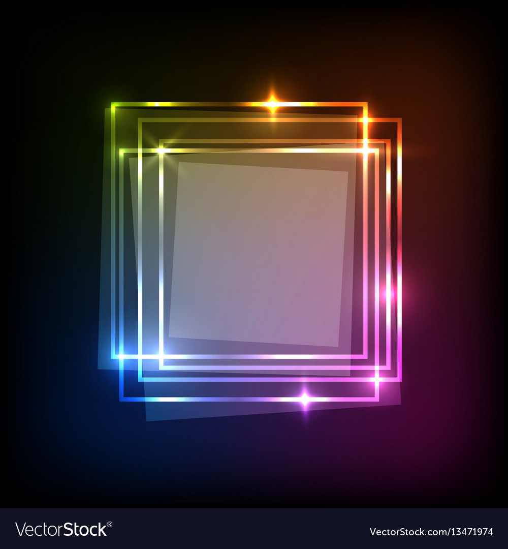 Abstract neon colorful background with squares