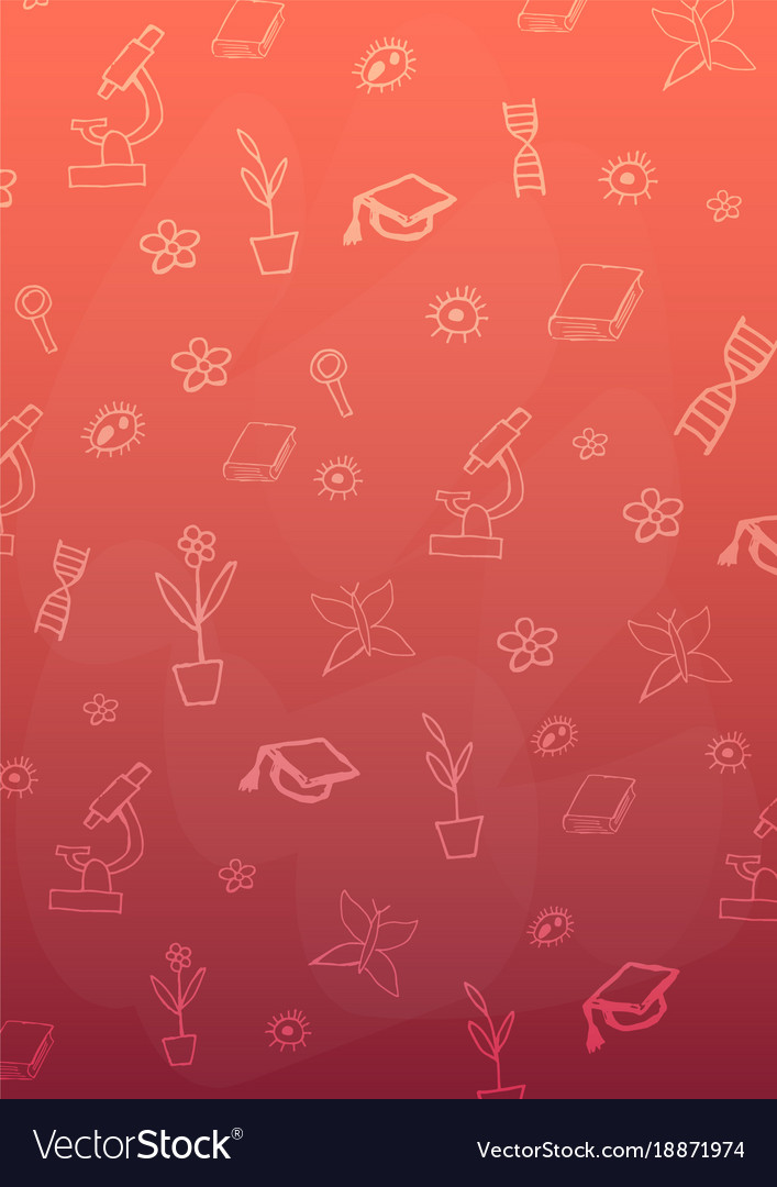 Biology Subject Back To School Background Vector Image