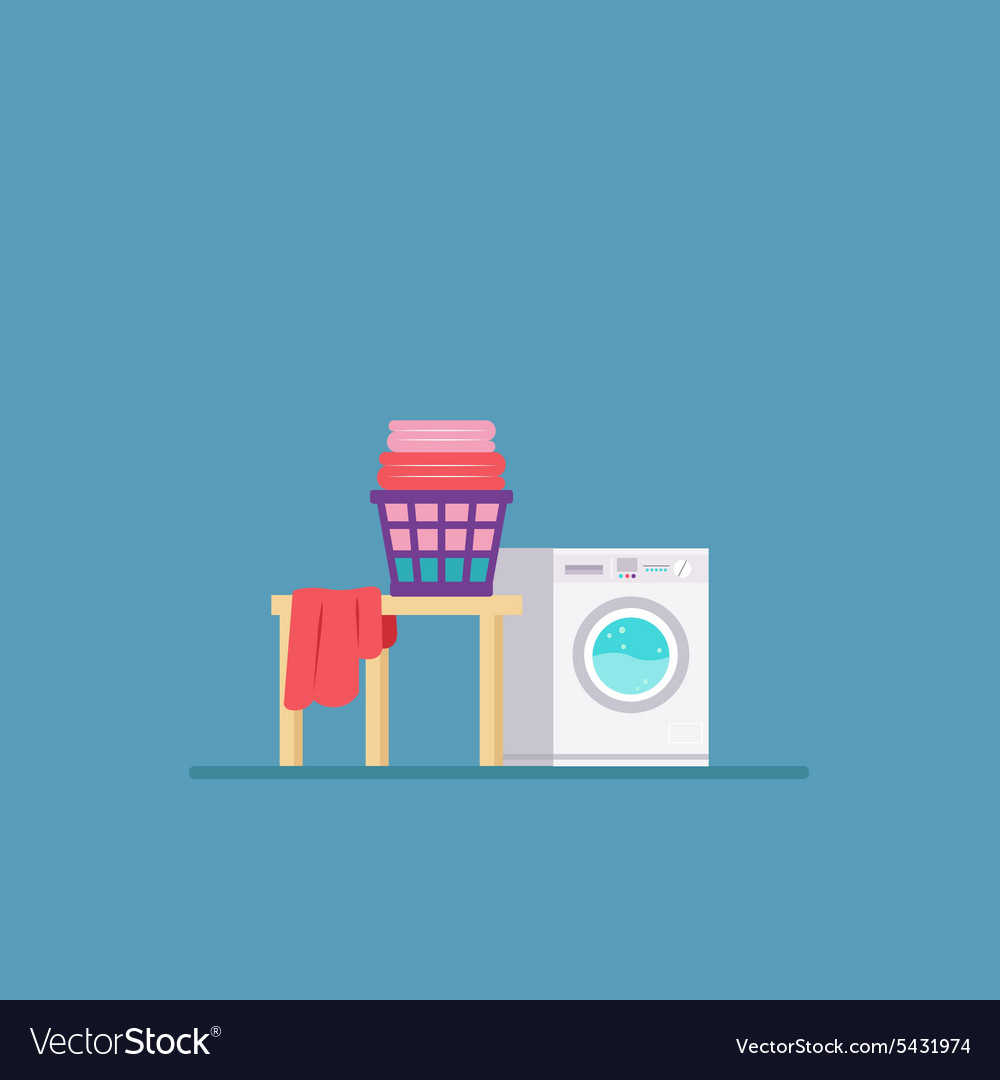 Laundry Room with Washing Machine and Dryer Flat