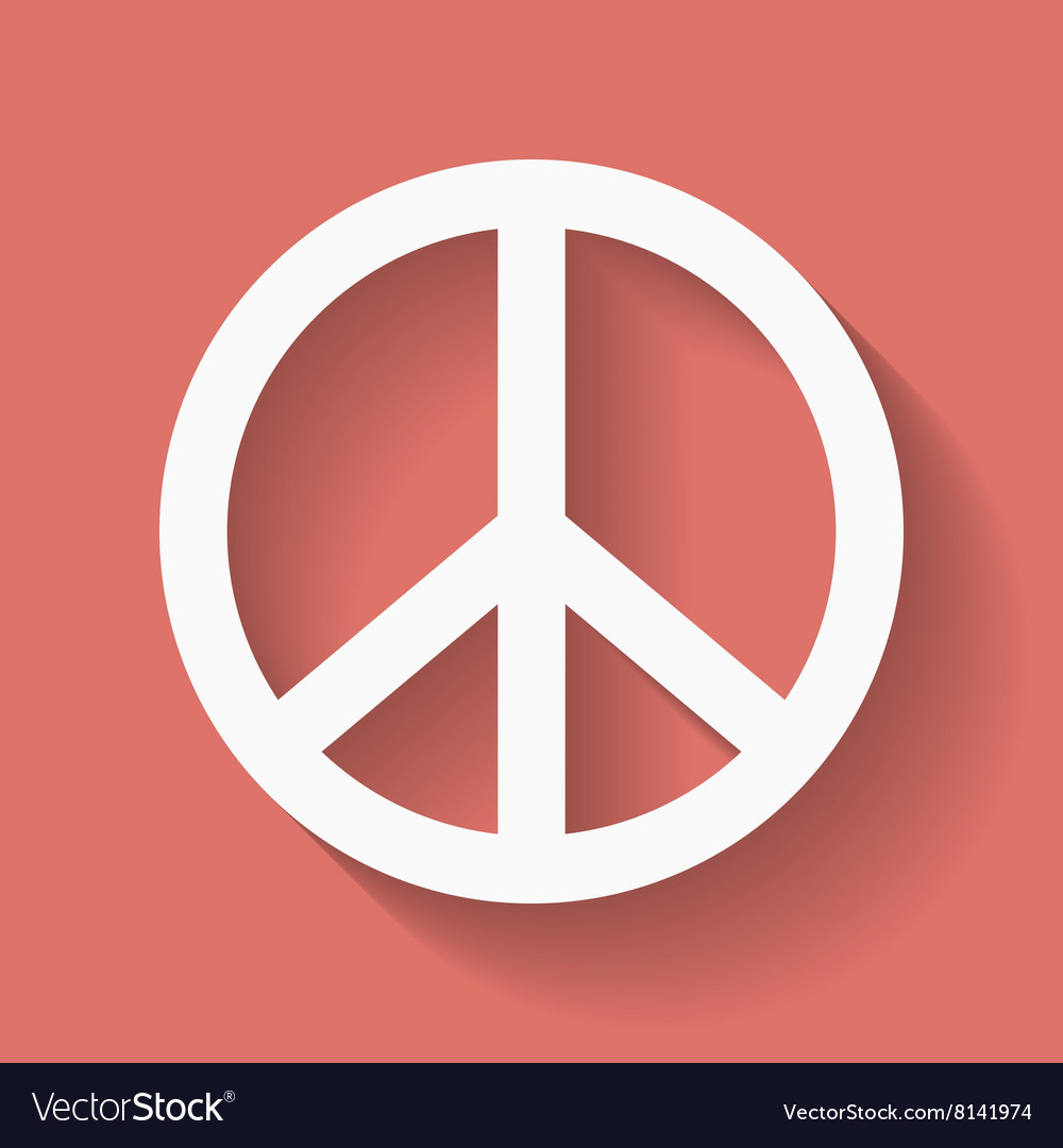 Peace Sign Hippie Symbol Of Peace Royalty Free Vector Image