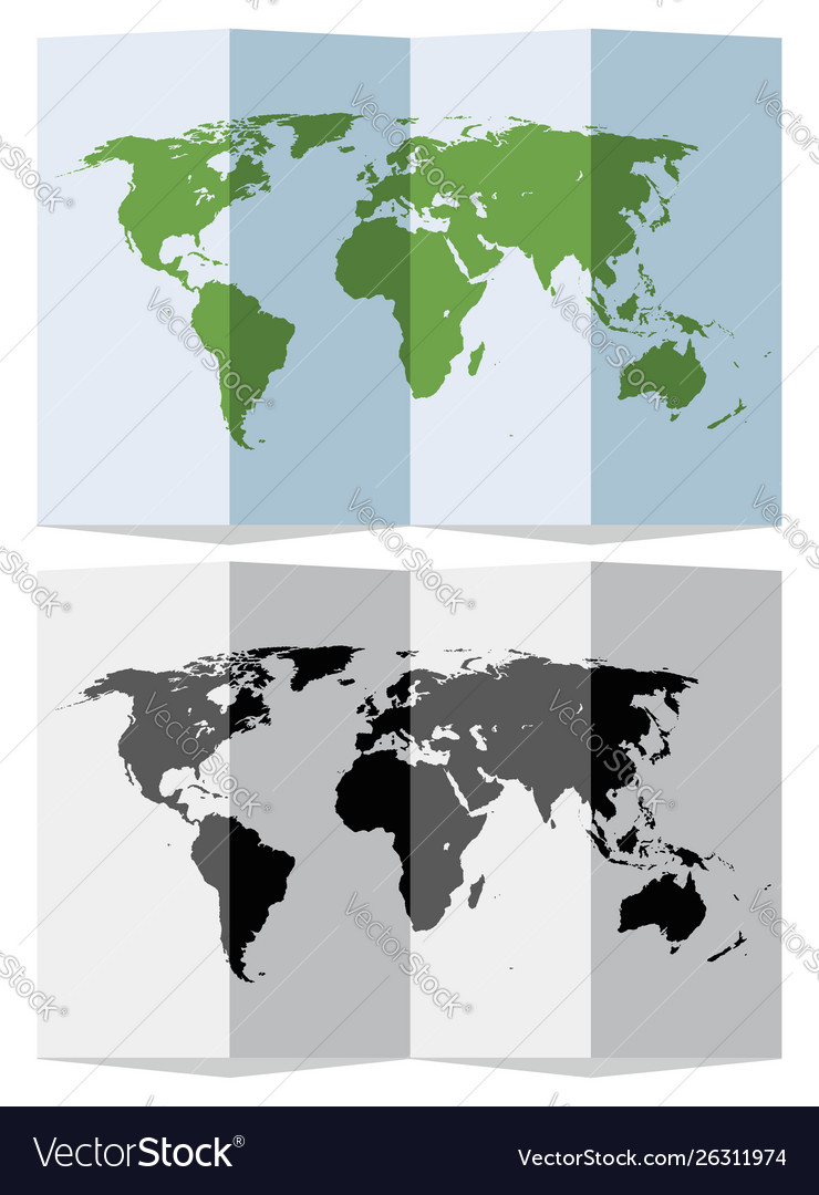 Set Abstract World Map