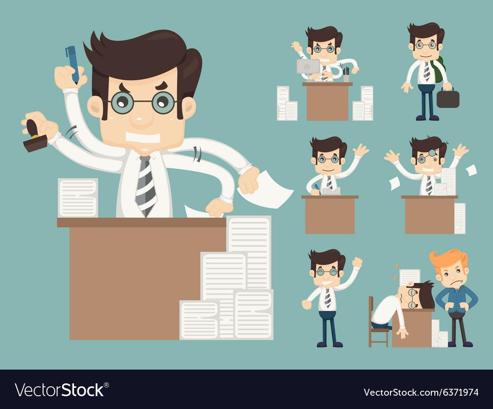 Set of office worker eps10 format