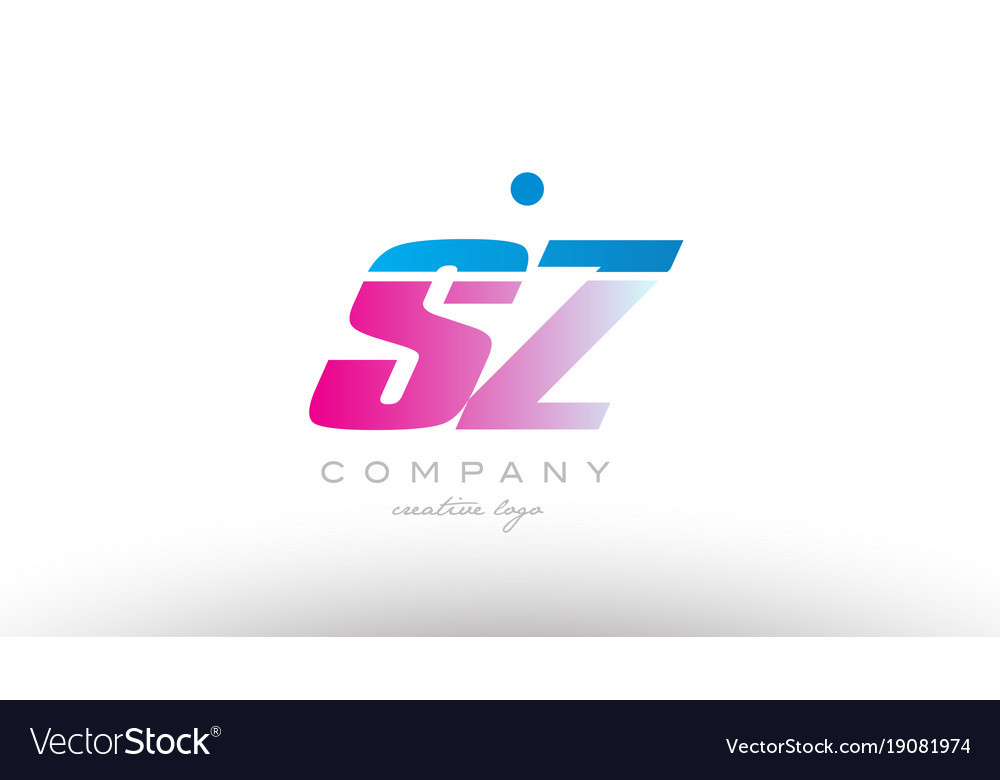 Sz s z alphabet letter combination pink blue bold