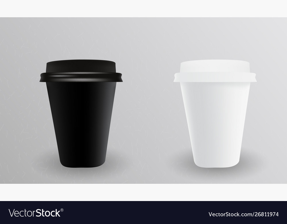 White and black paper cup for hot