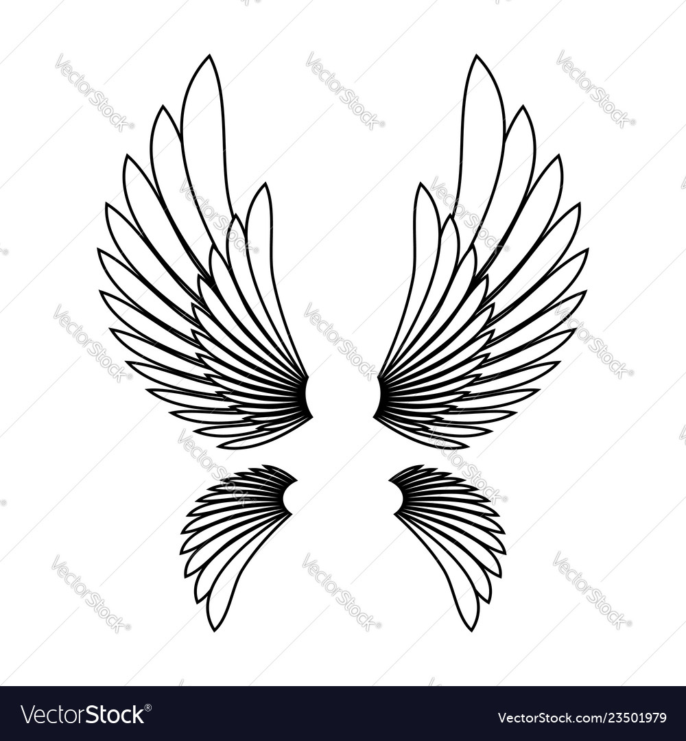 Angel Wings Template Logo Design Element
