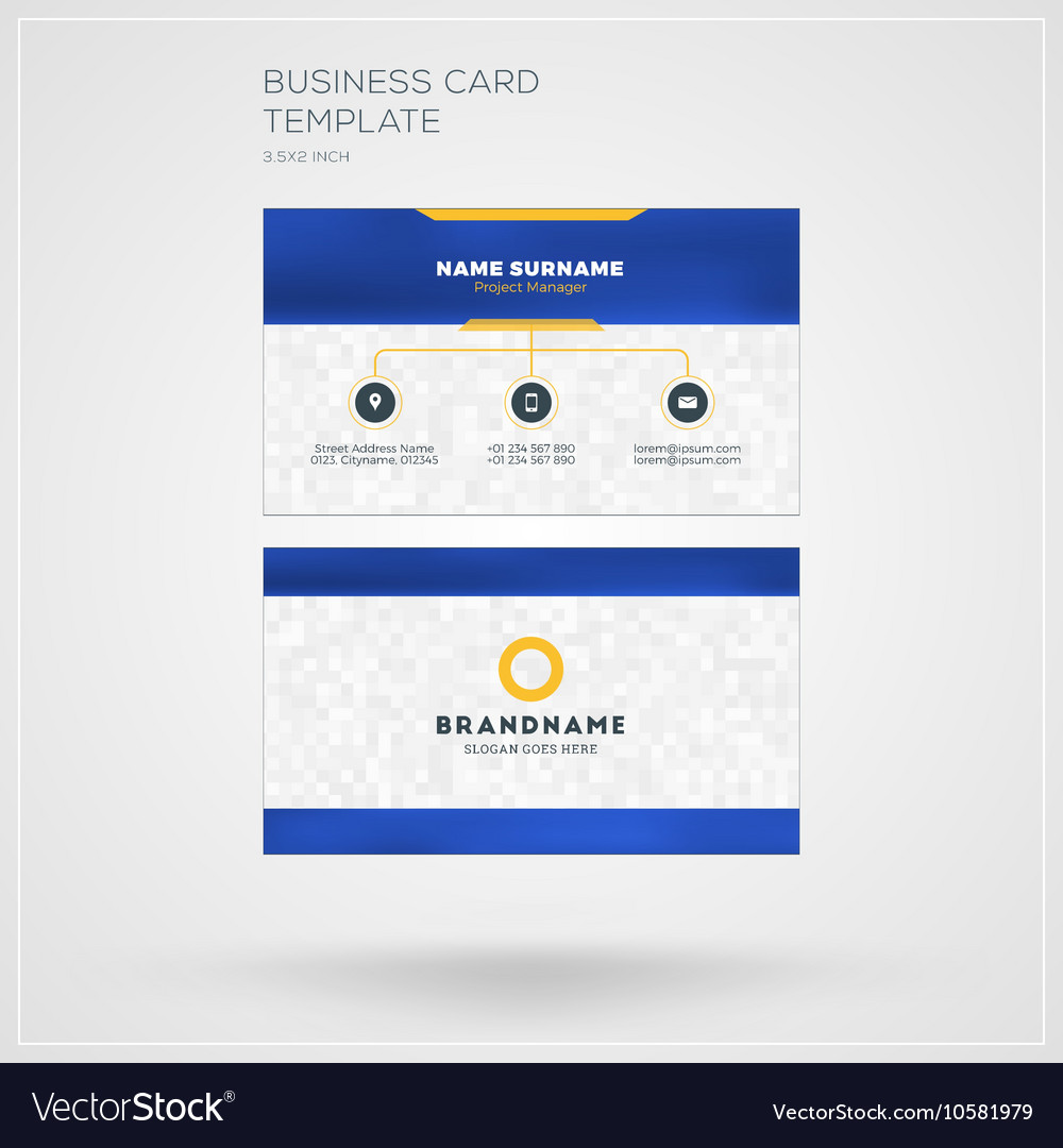 Business card template personal visiting card with business card template personal visiting card with vector image fbccfo Choice Image