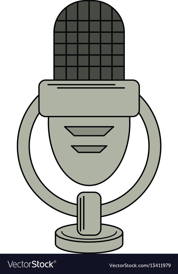 Retro microphone voice icon
